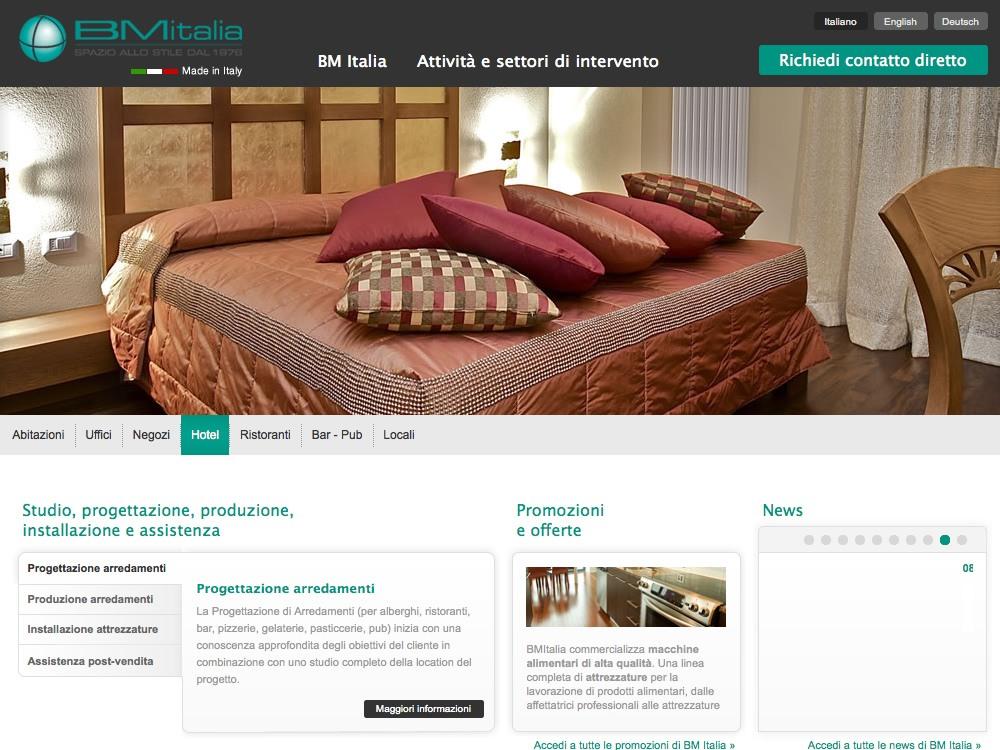 Progettazione siti internet settore arredamento e contract for Siti design arredamento
